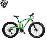 SUPER Mountain Fat Bike Full Suspension Alluminium Frame 24 Speed Shimano Mechanic Brake 26 X4 0