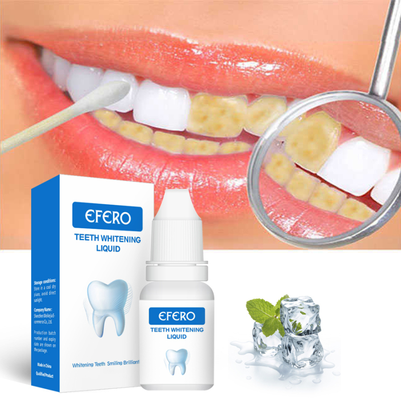 Efero Teeth Whitening Essence Powder Oral Hygiene Cleaning Serum Removes Plaque Stains Removal Tooth Bleaching Dental Tool TSLM2