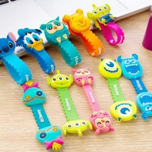 Cartoon Cable Organizer Bobbin Winder Protector Wire Cord Management Marker Holder Cover For Earphone iPhone Sansung