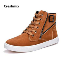 Cresfimix hommes chaussuresmale fashion comfortable plus size high shoes men cool street anti skid shoes cool shoes c2337