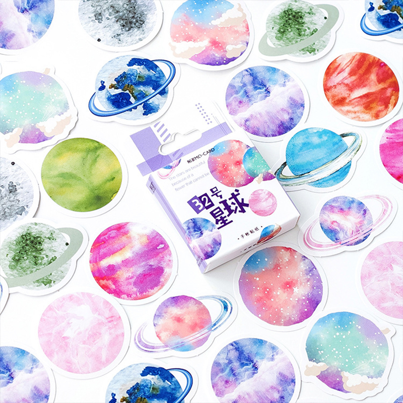 45 Pcs/pack Fun Planet Decorative Stickers Scrapbooking Stick Label Diary Stationery Album Bullet Journal Stickers