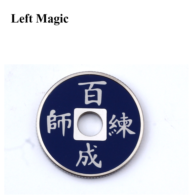 Left Magic- 1 juego Chinese Coin Color Change Trucos de magia mental - Juguetes clásicos - foto 2