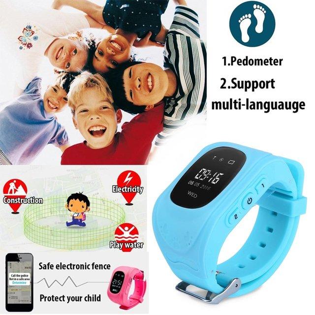 Q50 GPS Locator Tracker Anti-Lost Children Smartwatch Soft Silicone Wristwatch W
