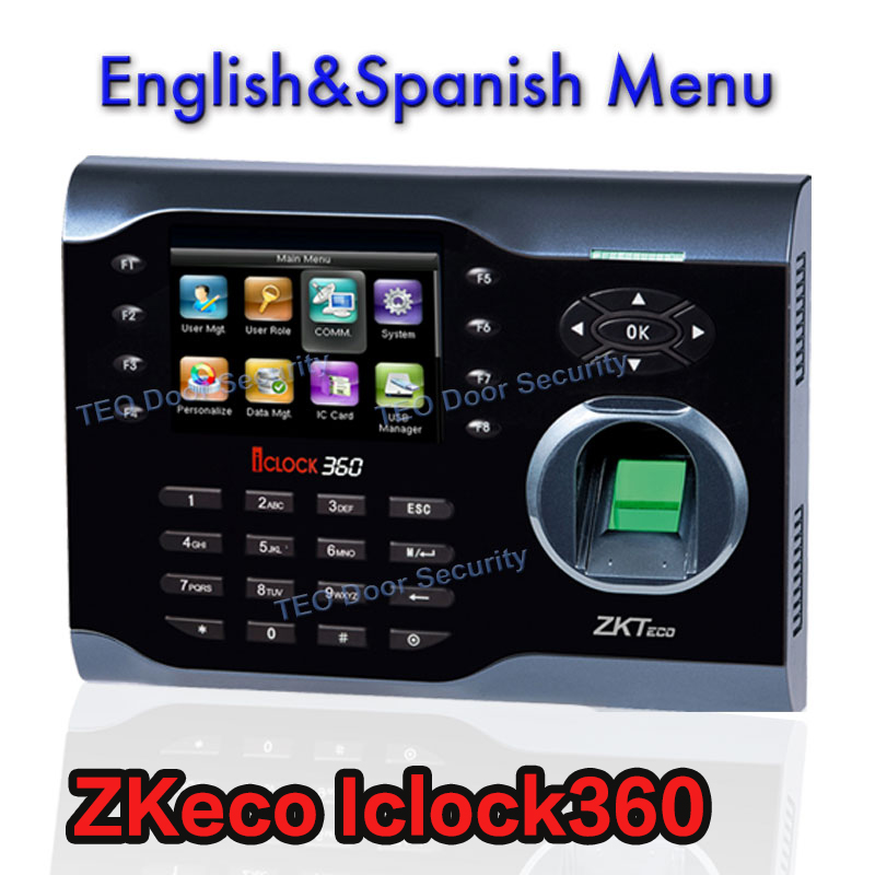 ZKsoftware Iclock360 TCP/IP Biometric 8000 Fingerprint Time Attendance Machine Recorder Biometric Time Attendance System