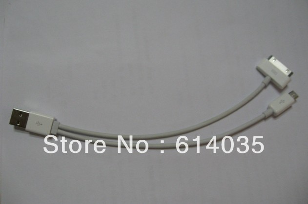 cb3df0ec0c Venta caliente! IPhone micro USB data cable combo de carga cable Andrews  versátil arrastrando dos.
