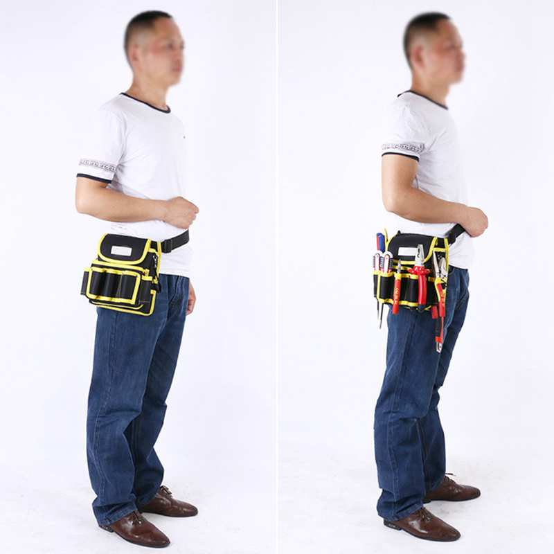 Hoomall 600D Oxford Cloth Tool Bags Multi-function Electrician Maintenance Bag High Quality Portable Tool Organizers Tool Belt hoomall tool kit multi functional maintenance electrical shoulder bag large thick canvas oxford cloth tool bag