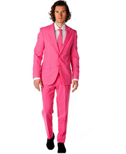 Nieuwe collectie Bruidsjonkers Aanpassen made prom party palace Bruidegom Smokings Mannen Pakken roze mode Bruiloft Beste Man (Jas + broek + Tie)
