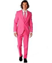 Nouveauté garçons dhonneur personnaliser fait fête de bal palais marié Tuxedos hommes costumes rose mode mariage meilleur homme (veste + pantalon + cravate)