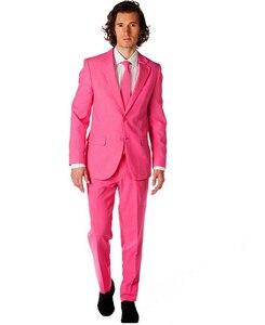 Image 1 - Nouveauté garçons dhonneur personnaliser fait fête de bal palais marié Tuxedos hommes costumes rose mode mariage meilleur homme (veste + pantalon + cravate)
