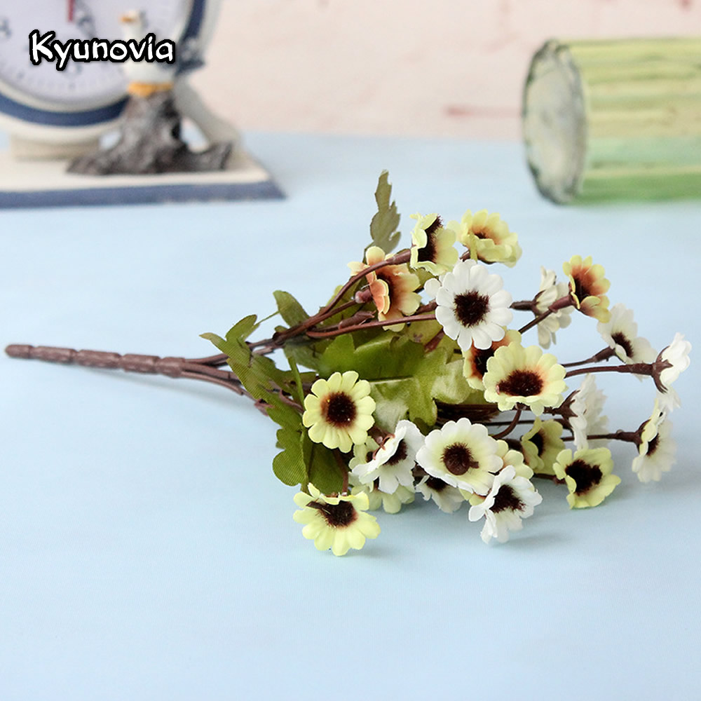 Kyunovia Beautiful 1 Bunch Artificial Fake Bridal Daisy Flower