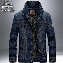 Afs jeep marke herren denim jacke fashion retro high qualtiy plus größe M ~ 4XL Lässige Jeans Jacke Mantel Für Frühling Herbst 2017 Neue