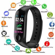 M3 Plus Sports Fitness Smart Bracelet Blood Pressure & Heart Rate Monitor Band Wristband Step Counter PK Mi 3 Watch