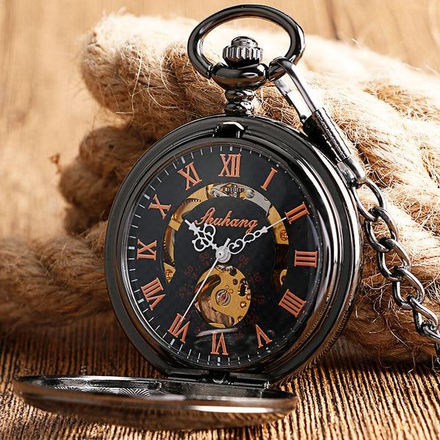 Купить новинка 2017 механические карманные часы скелетоны shuhang ручной картинки