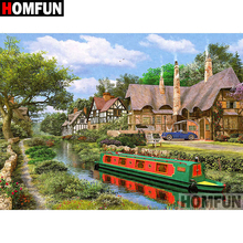 HOMFUN 5D DIY Diamond Painting Full Square/Round Drill House scenery Embroidery Cross Stitch gift Home Decor Gift A08417 homfun 5d diy diamond painting full square round drill house scenery embroidery cross stitch gift home decor gift a08417