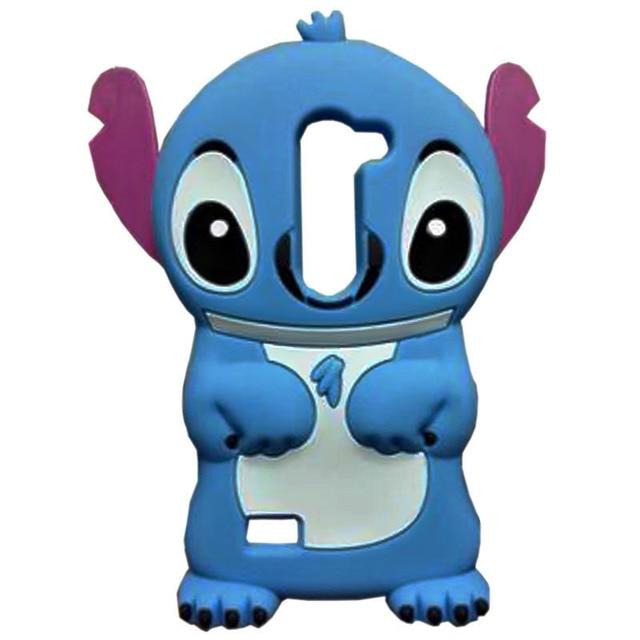 a191b10a686 Lovely funda Anime 3D Stitch capa case for LG Spirit H440 H442 case cute 3D  Cartoon Stitch Silicone Phone Back coque Cases Cover