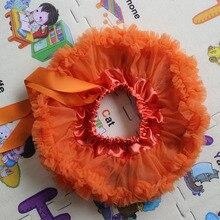 Одежда для маленьких девочек детская одежда на Хэллоуин детская юбка-пачка Оранжевый шифон пышная КРУГЛАЯ ЮБКА