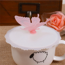 2pcs/lot Creative Silicone Cup Lid With bow-knot Flower butterfly Leak-proof Bottle Lid Stopper Cover YL35