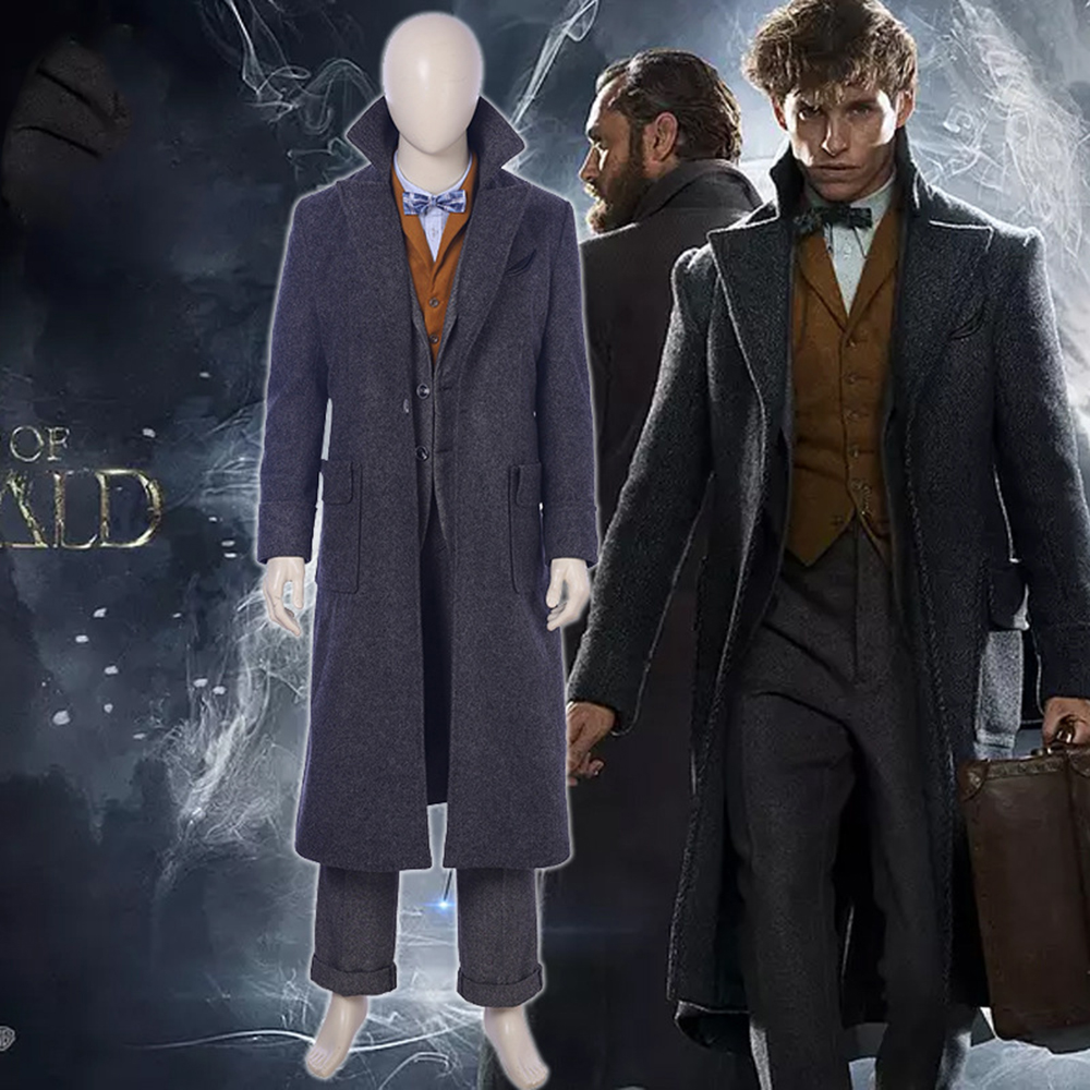 Fantastic Beasts and Where to Find Them cosplay Newt Scamander cosplay costume accessories woolen coat for men women custom made