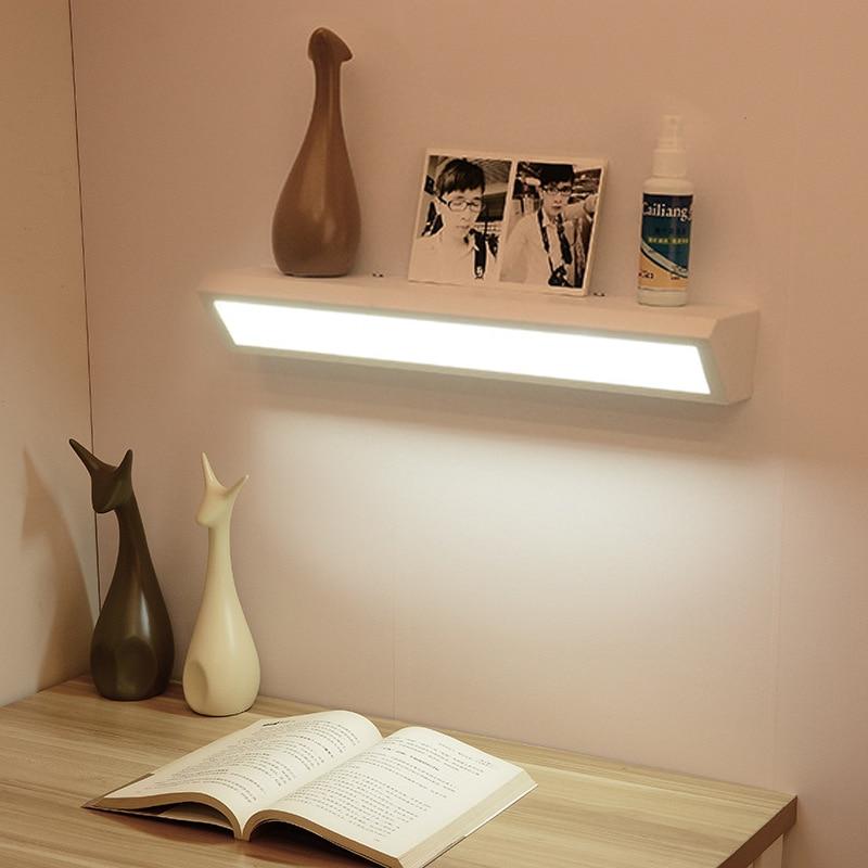 LAIMAIK Modern Minimalist LED Bedroom Wall Lamp Bathroom Mirror Light Black/white Design Wall Mount Led Book Light AC110V/220V