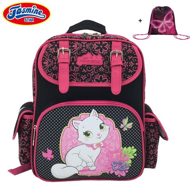 53e834217155 JASMINESTAR Мультфильм школьная сумка Класс 1-3-6 детская ортопедическая  сумка бабочка кошка сова