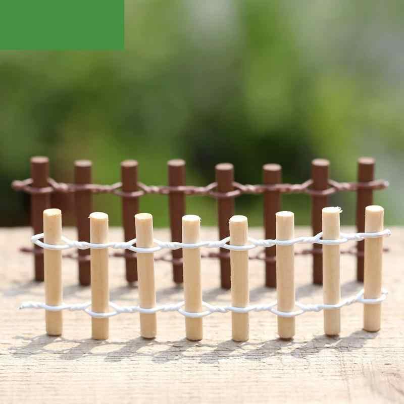 Мох, микропейзаж забор бревна небольшой орнамент аксессуары деревянные изделия ручной работы миниатюрная садовая миниатюрная Статуэтка ремесла