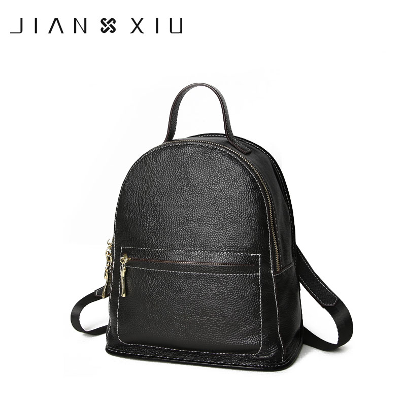 JIANXIU Brand Genuine Leather Backpack Mochilas Mochila Feminina School Bags 2018 Large Size Casual Bagpack Escolar Backpacks jianxiu women pu leather backpack school bags mochilas bolsas mochila feminina mujer bagpack escolar backpacks new back pack bag
