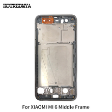цена на Mi6 Middle Frame Faceplate Bezel For Xiaomi Mi 6 LCD Screen Supporting Frame Housing Spare Parts Replacement Part