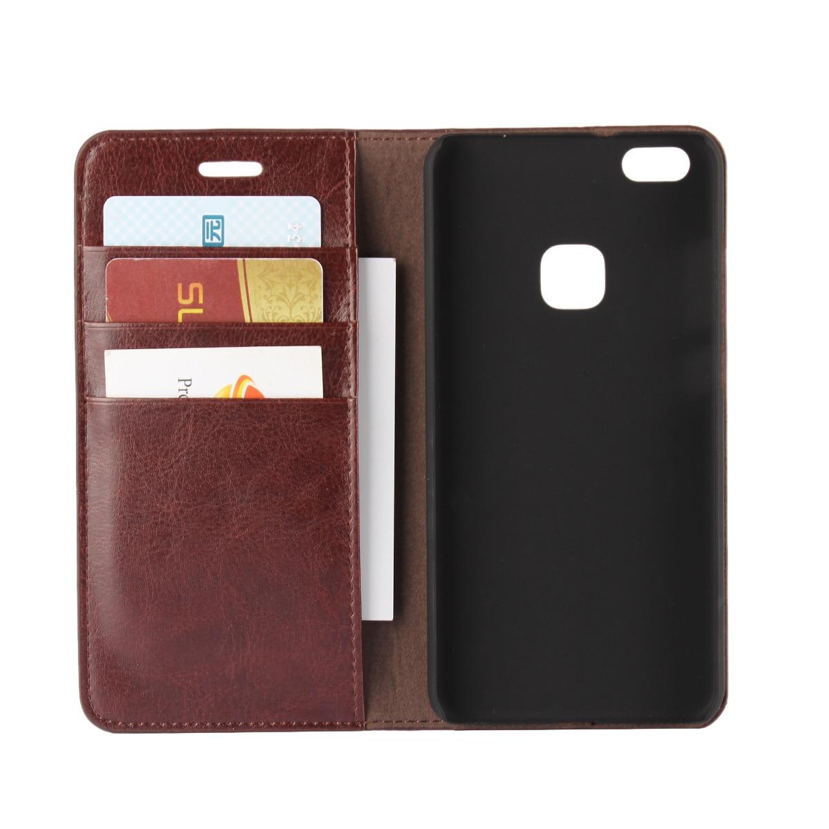 """imágenes para De lujo Caja de la Carpeta Para Huawei Ascend premium Funda de cuero Huawei P10 P10 Lite Lite 5.2 """"Cubierta Del Tirón Bolsas Del Teléfono"""