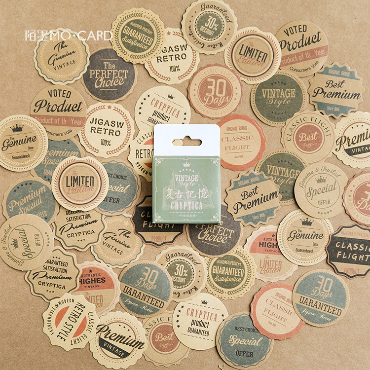 Retro Memory Mini Stickers Set Decorative Stationery Stickers Scrapbooking DIY Diary Album Stick Lable