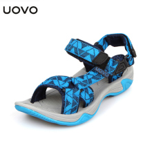 UOVO Summer Casual Beach Sandals for Kids boys child Soft Sole Permeability Sandals Non-Slip Footwear shoes Breathable Sandalias