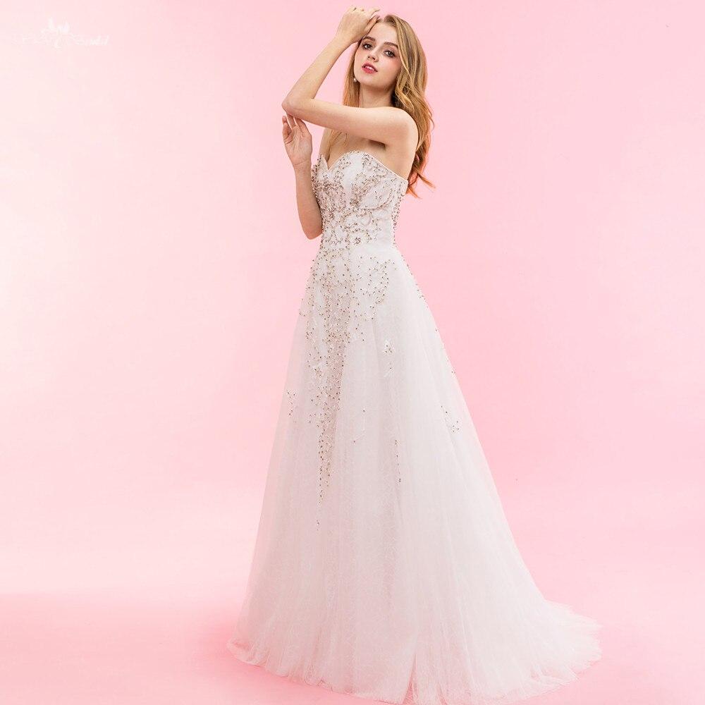 RSW1327 real fotos yiaibridal una línea tulle mariage vestido de ...