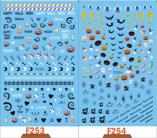 Halloween 3D Stencils Nail Sticker