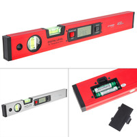 400MM 16 Inch Precision Magnetic Aluminum Alloy Digital Angle Finder Level Ruler with LCD Screen for Building Measuring Tools