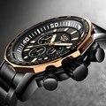 Reloj Masculino 2018 nuevo en este momento marca de moda relojes para hombre acero negocios reloj de cuarzo militar deporte impermeable reloj de los hombres