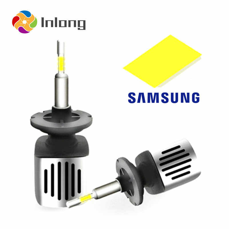 Inlong With 4 Sides SAMSUNG Mini H1 LED H7 11200LM D4S H4 H8 H11 9005 D3S 9006 HB4 D1S Car Headlight Bulbs 6500K  Fog Lights 12V