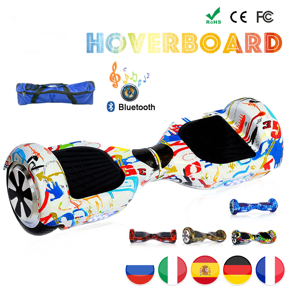 EU Lager 6,5 Zoll Patinete Electrico Hoverboard Elektrische Skateboard Giroskuter Volante Mekotron Hover <font><b>Board</b></font> Elektrische Roller image