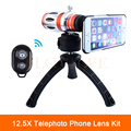 2017 Newest Phone camera Lens Kit 12.5X Manual Focus Telephoto Telescope Zoom Lens With Mobile Tripod Case For iPhone Samsung