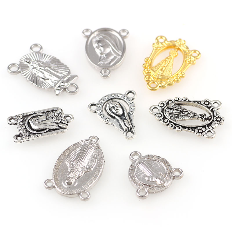 20pcs Religious Charms Three Holes Necklace Link Charm Pendants Jewelry Making DIY Jewelry Accessories