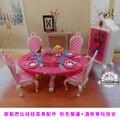 Новый розовый стол стулья gradevin для барби 1/6 для кукол куклы мебель для барби девочек детский детский сделай сам игрушки