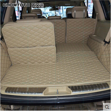 CHOWTOTO AA Special Trunk Mats For Benz GL350 7seats Waterproof Leather Carpets For MB GL 350 Lagguge Pad Car-styling