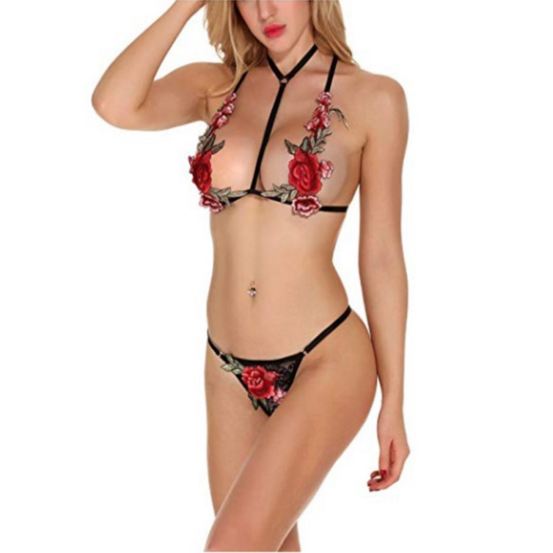 Erotic Sexy Temptation Women Intimate Goods Porn Underwear Women Flower Lingerie Ladies Transparent Costumes Sexy Lingerie in Babydolls Chemises from Novelty Special Use