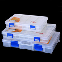 도보 물고기 낚시 미끼 상자 다기능 투명 플러그인 조각 미끼 상자 도구 키트 케이스 태클 스토리지 박스 케이스