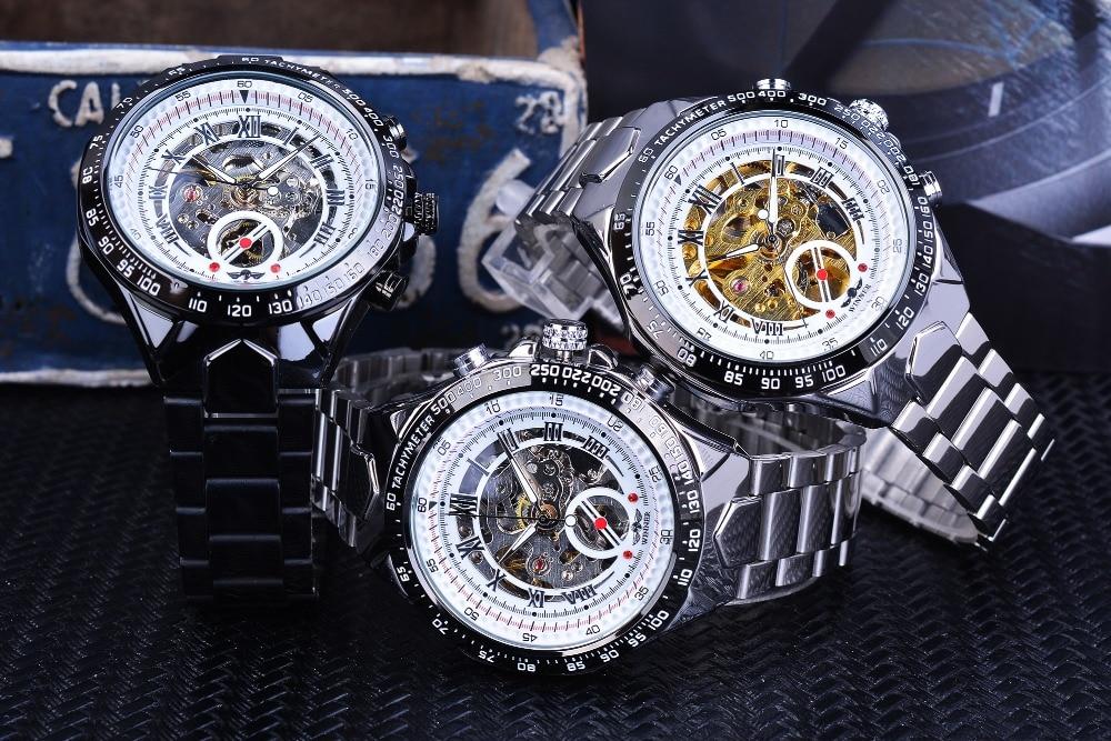 Winner New Number Sport Design Bezel Golden Watch Mens Watches Top Brand Luxury Montre Homme Clock Men Automatic Skeleton Watch 11