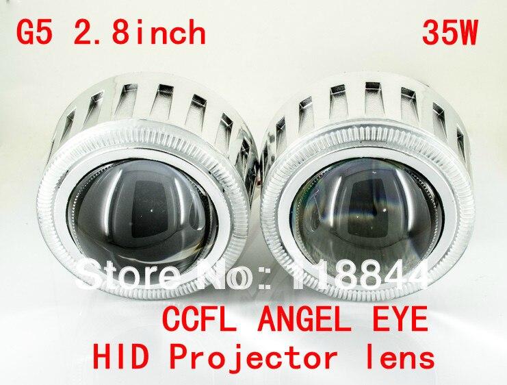 35W Projector Lens Headlight kit Slim Ballast 9004 9005 9006 9007 H1 H7 H4 H13 G5 2.8 inch HID Bixenon Projector Lens