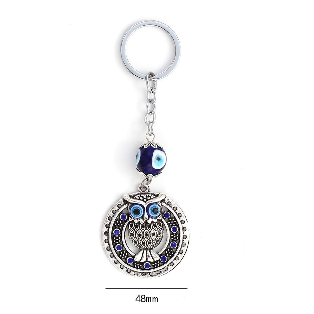 Lucky Eye Crystal Owl Charm Llavero Evil Eye Animal Bolso Llavero de - Bisutería - foto 2
