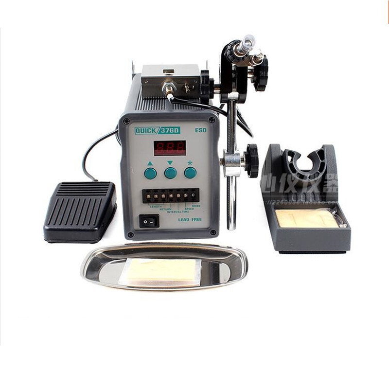 Original QUICK 376D automatic display of tin solder machine out of tin soldering iron 220V 90W high frequency fever