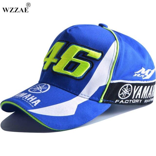 ba33a20c8d3 2017 High Quality MOTO GP 46 Motorcycle 3D Embroidered F1 Racing Cap Men  Women Snapback Caps Rossi VR46 Baseball Cap YAMAHA Hats