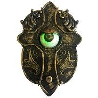 Анимированный дверной звонок со звуком световых глаз и пробуйте-я говорящий глазный дверной звонок для украшения Хэллоуина