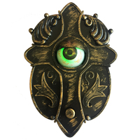 Animated Doorbell with Light up Eyes Sound and Try Me Talking Eyeball Doorbell for Halloween Decorations