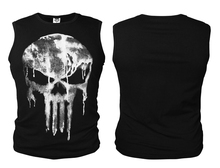 Punisher Skull Summer Casual Fashion Cotton O-Neck Sleeveless Men's T-shirt